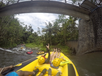 VIDEO: White-Water Rafting at Telaga Waja