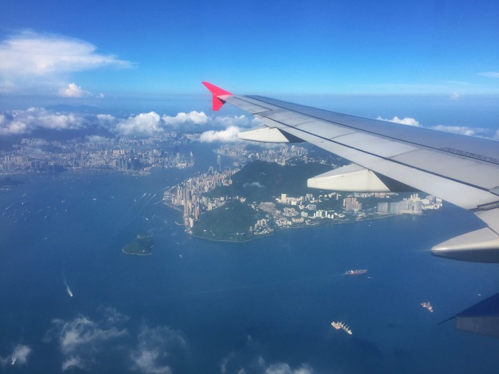 Flying out of Hong Kong to Vietnam