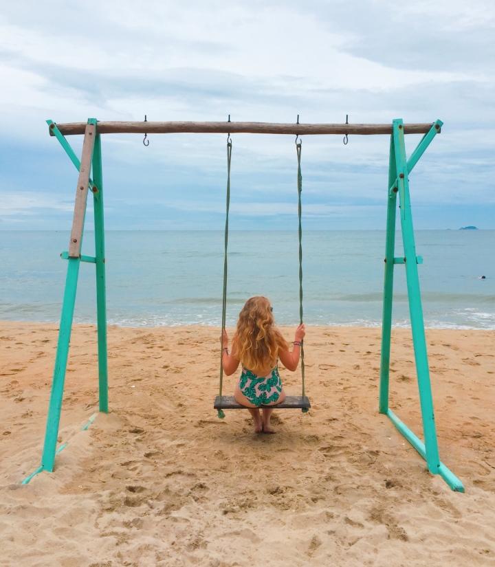 The beach swing at An Bang, Hoi An