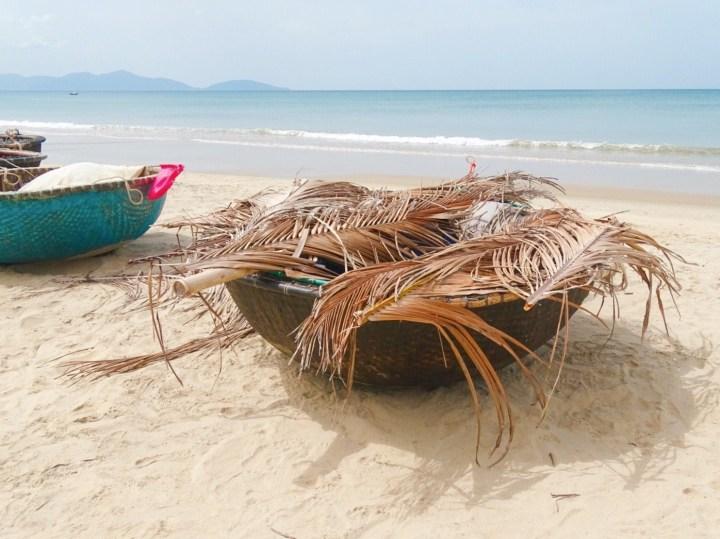Coconut boats at An Bang Beach, Hoi An